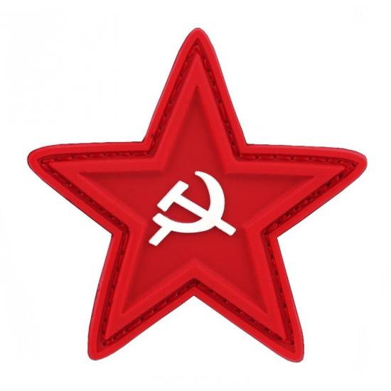 Pvc embleem sovjet ster met sikkel en hamer